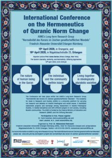 "Towards entry ""International Conference on the Hermeneutics of Quranic Norm Change"""